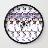 skeleton Wall Clocks featuring Skeleton by Ali GULEC