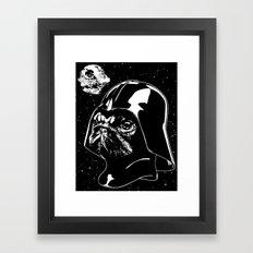 Pug Vader Framed Art Print