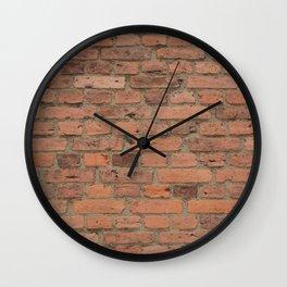 Stone Brick Wall Wall Clock