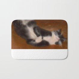 Cute sleeping kitty Bath Mat