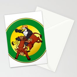 Muscle cowboy  penguin man Stationery Cards