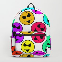 Smiley Bikini Bright Neon Smiles on White Backpack