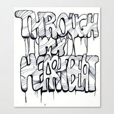 Through my Heartbeat Canvas Print