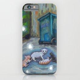 Back alley shenanigans iPhone Case