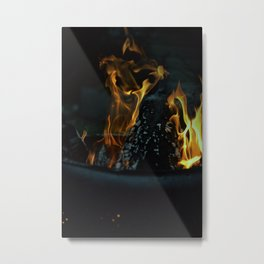 Fire Night Metal Print