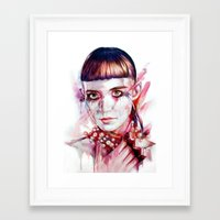grimes Framed Art Prints featuring grimes by beart24