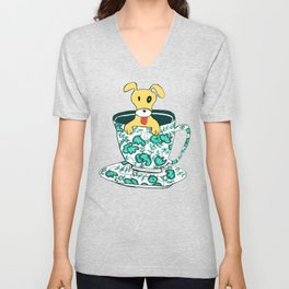 Dinnerware Sets - puppy in a teacup Unisex V-Neck