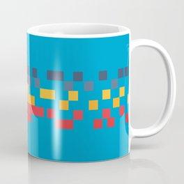 Classic 80s Video Game Style Retro Stripes Pixel Drops - Akiko Coffee Mug