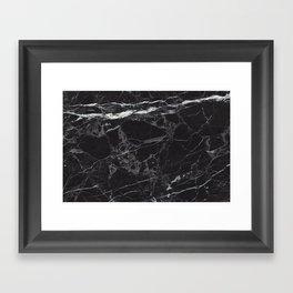 Black Marble Framed Art Print