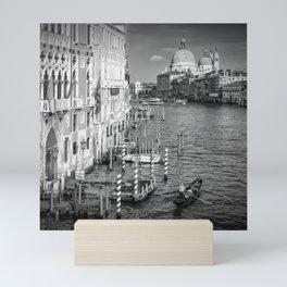 VENICE Canal Grande & Santa Maria della Salute | Monochrome Mini Art Print