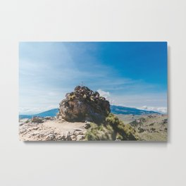 Cross at the top of the Iztaccihutal Volcano, Mexico City Metal Print