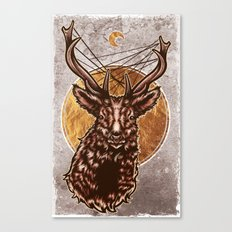 Golden Stag Canvas Print