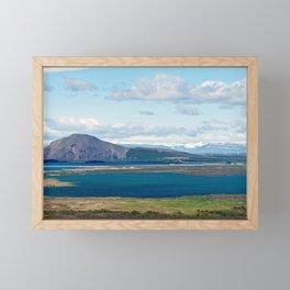 Iceland morning seascape Framed Mini Art Print