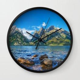 Jenny Lake Grand Teton National Park Wyoming United States Ultra HD Wall Clock