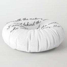 Marilyn quote Floor Pillow