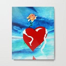 HEART OF A ROSE Metal Print