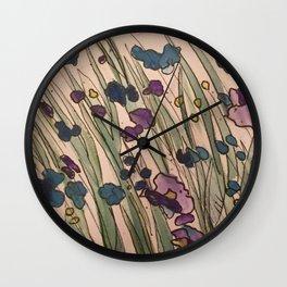 Water color Gardens  Wall Clock
