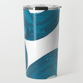 Nikee comma, Abstract, Blue Duck Travel Mug