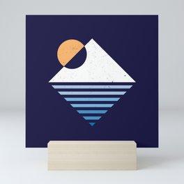 Snow Mountain sunset Mini Art Print