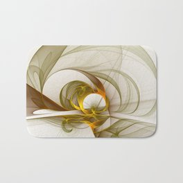Fractal Art Precious Metals, Abstract Graphic Bath Mat