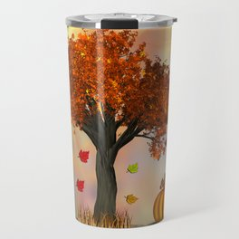 Autumn Squirrel Scene Travel Mug