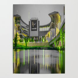 Baylor McLane Football Stadium Green Print Poster