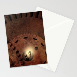 The Man in the Machine - A Steampunk Fantasy Stationery Cards
