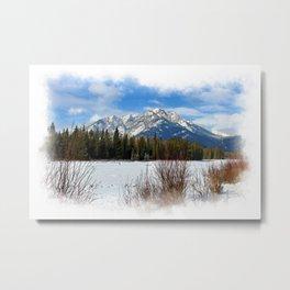 Scenic Cascade Mountain - Banff Alberta Metal Print