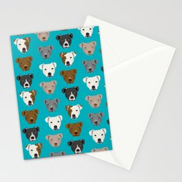 Pitbull faces dog art dog pattern pitbulls cute gifts for rescue dog owners Stationery Cards