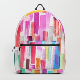 Colorful brushstrokes watercolor Backpack