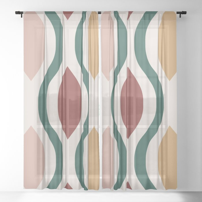 Pretty Ogee Pattern 334 Sheer Curtain
