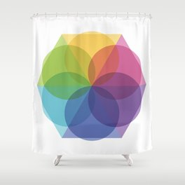 Fig. 012 Geometric Circles and Triangles Shower Curtain