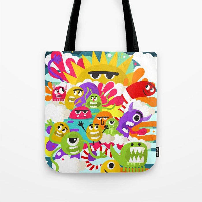 Monster Sunshine Friends Tote Bag