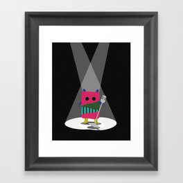 Monster + Mic Framed Art Print
