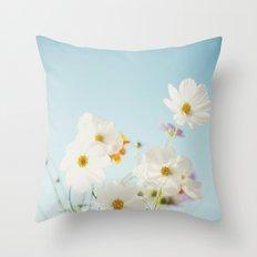 Garden of flowers. Throw Pillow