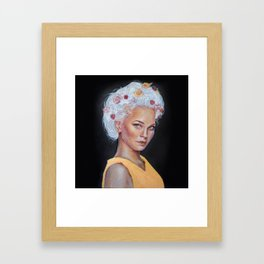 Metallic Lady Framed Art Print