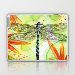 Dragonfly Lilly Art (Watercolor & Ink) Laptop & iPad Skin