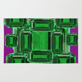 Emerald Gems May Babies Birthstones on Purple Rug