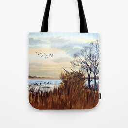 Duck Hunting Season Begins For The Canvasback Tote Bag