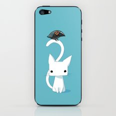 Cat and Raven iPhone & iPod Skin