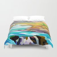 river Duvet Covers featuring River by Liam Brazier