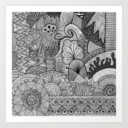 Doodle 3 Art Print