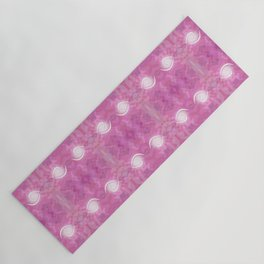 White Heart Sensuous Pinks Yoga Mat