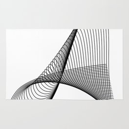 """""""Linear Collection"""" - Minimal Letter A Print Rug"""