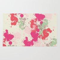 splatter Area & Throw Rugs featuring Splatter by C Designz