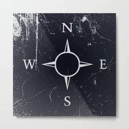 Dark compass Metal Print