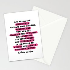 and to all the little girls Stationery Cards