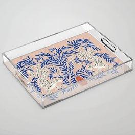 Leopard Vase Acrylic Tray