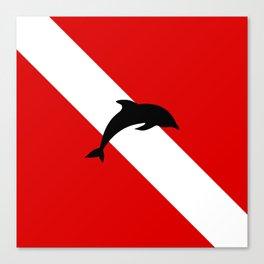 Diving Flag: Dolphin Canvas Print