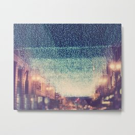 downtown Los Angeles at night photograph. Starry Night Metal Print